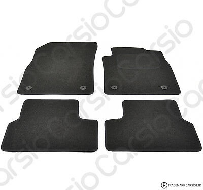 Vauxhall Astra J MK6 Tailored Black Car Floor Mats Carpets 4pc With Clips 310mm