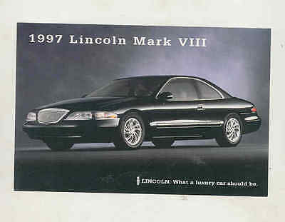 1997 Lincoln Mark VIII Factory Postcard mx8344