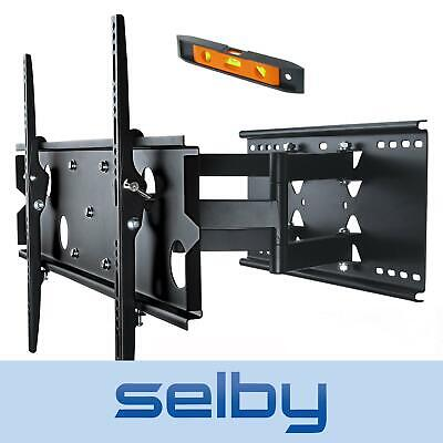 "37-60"" LED LCD Plasma TV Full Motion Tilt Swivel Pivot Wall Mount Slim Bracket"