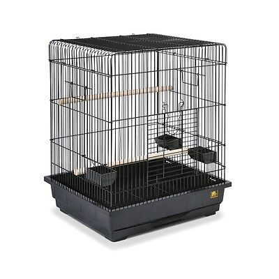 Prevue Hendryx Square Roof Parrot Cage in Black - SP25217B-B