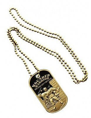 NEW Wounded Warrior Dog Tag with key chain. 2797.