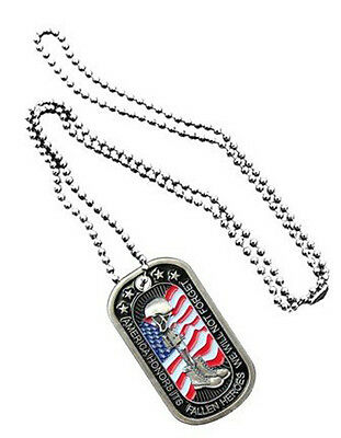 NEW Dog Tag with key chain Fallen Heroes. 2788.