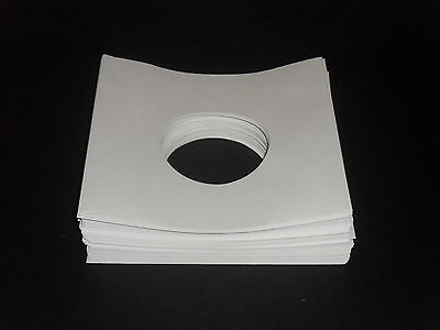 100 White Paper 45rpm Record Sleeves-20# Acid-Free Paper