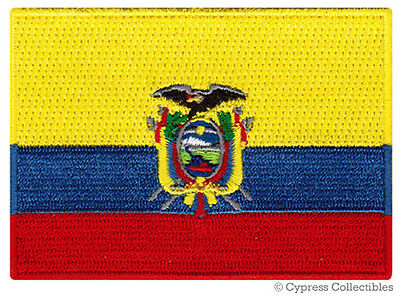 ECUADOR FLAG embroidered iron-on PATCH SOUTH AMERICAN EMBLEM applique SOUVENIR