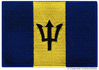 BARBADOS FLAG embroidered iron-on PATCH CARIBBEAN EMBLEM applique