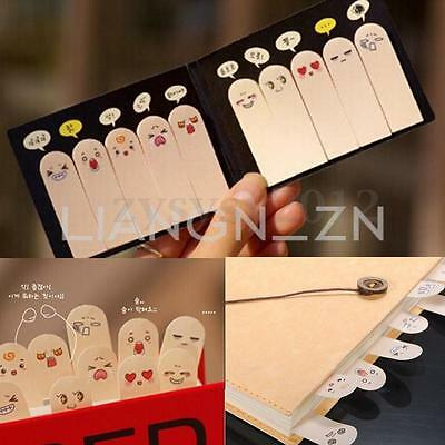 200 Pages Cute Ten Fingers Sticker Post Bookmark Flags Memo Sticky Notes Pads