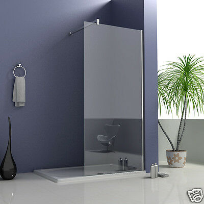 Wet Room Shower Enclosure Walk In Glass Screen Cubicle Side Panel Stone Tray