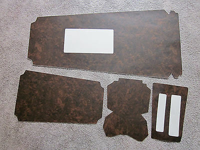 1967-69 firebird console wood grain trim for automatic models