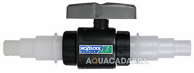 Hozelock Flow Control Valve Water Straight Tap Conector Inline Filter Pond 1758