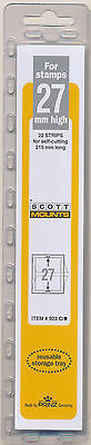 Prinz Scott Stamp Mount 27/215 CLEAR Background Pack of 22