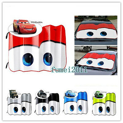 Eyes Pixar Cars Lightning Front Windshield Sun Shade louver Sunvisor Sun Block