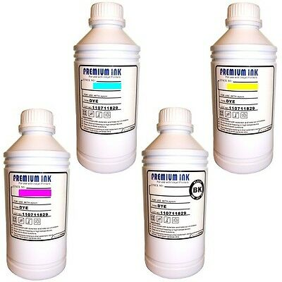 4x 1 Litre Bottle Non OEM Compatible Refill Printer Ink HP  Black/Cyan/Mg/Yellow