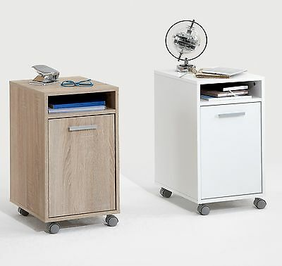 Laurenz Under-Desk Mobile Cabinet Pedestal w Castors. PC Table File Storage.