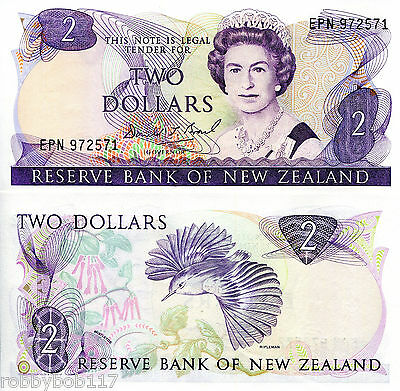 NEW ZEALAND $2 Dollars Banknote World Money Currency BILL p170c Australasia Note