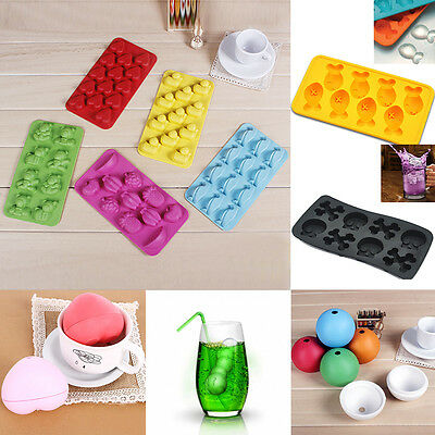 NEW Multi-Shape Ice Jelly Pudding Chocolate Cake Tray Mold Mould Cube Maker #H1