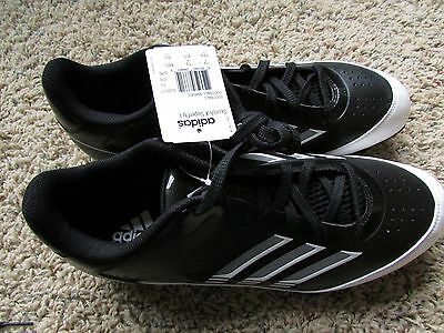 372cff308 New Adidas Scorch X Superfly Football Cleats Shoes Mens 13.5 Black Low