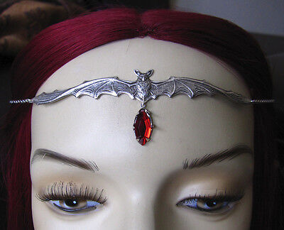 Gothic RENAISSANCE Medieval VAMPIRE Bat QUEEN Circlet Crown Headpiece HALLOWEEN