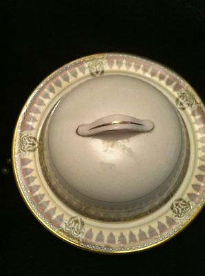 J&G MEAKIN HANLEY ENGLAND COVERED BUTTER DISH