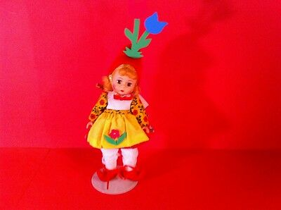 "Madame Alexander Munchkin Peasant Doll Vintage Figure 8"" The Wizard Of Oz Girl"