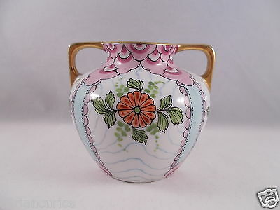 SMALL HAND PAINTED LIMOGES TWO HANDLED VASE C1930?