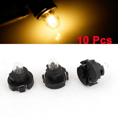 10 Pcs Yellow T3 Auto 1 Bulb Dashboard Indicator Side Light