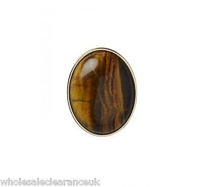 Wholesale Joblot Of 10 French Connection Tiger's Eye Cabochon Rings Sjqj7