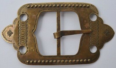 1900s Imperial Russia Beautiful Ethnic Women's Belt Buckle Bronze Large Size