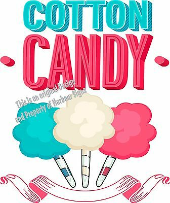"Cotton Candy Decal 14""  Concession Food Truck Cart Vinyl Menu Sticker"