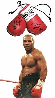 Autographed Mini Boxing Gloves Mike Tyson  (highly collectible)