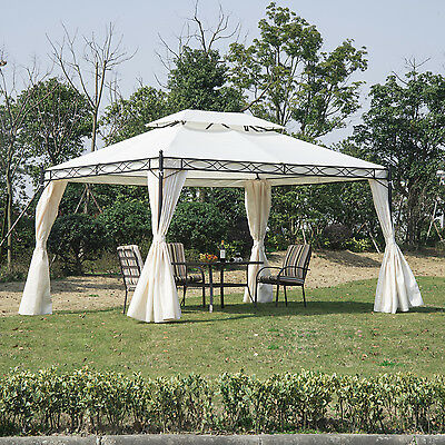Outsunny 10 'x 13' Heavy Duty Gazebo Canopy Sunshelter w/ Curtains Events Tent