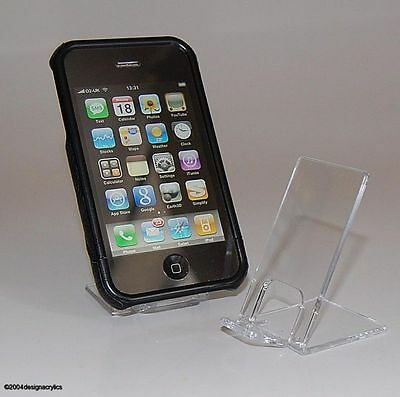 10 X Clear Acrylic Mobile Phone Stands Display