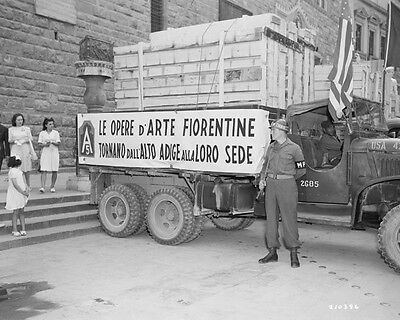 Wwii One Of The Trucks That Transported Art Treasures To Florence 8X10 Photo