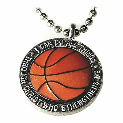 I Can Do All Things---Basketball Pendant