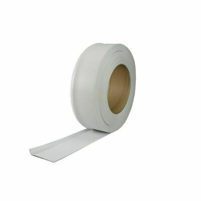 "M D Bldg 75507 4"" x 120' White Vinyl Wall Base Cove Moulding in Bulk Roll"