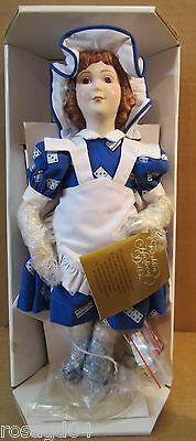 """Franklin Heirloom Country Store Dolls """"Domino Sugar"""" Girl Bisque Porcelain Head"""
