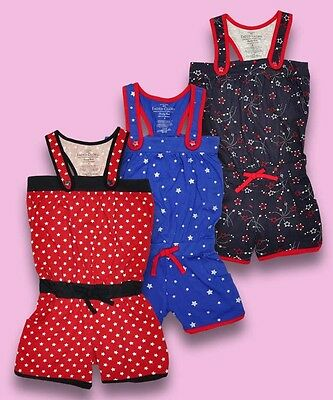 New Girls Faded Glory Funky Playsuit Star Flower Summer 4-5-6-7-8 Years