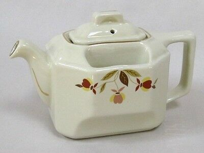 2000 Autumn Leaf T-Ball Square Teapot by Hall China for The Autumn Leaf Club
