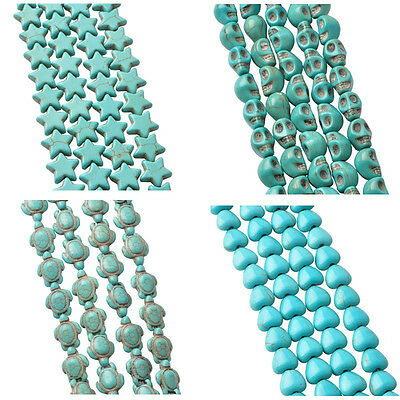 Wholesale Natural Star Turtle Grimace SKull Peach Heart Turquoise Loose Beads