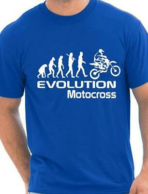 Evolution Of Motocross Motorbike Funny Adult Mens T-Shirt Birthday Gift  S-XXL