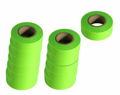 CH Hanson 17001 Bright Fluorescent Lime Green Flagging Tape 12 Rolls 150' Each