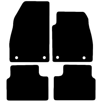 Vauxhall Insignia 2008 to 2013 Tailored Black Car Floor Mats Carpets 4 piece Set
