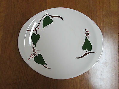Vintage Skyline Canonsburg Pottery Hand Painted Stan-Home Ivy Oval Platter