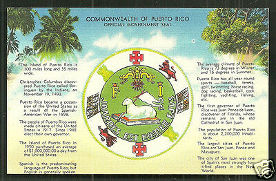 Puerto Rico PR Coat of Arms fact sheet Caribbean USA