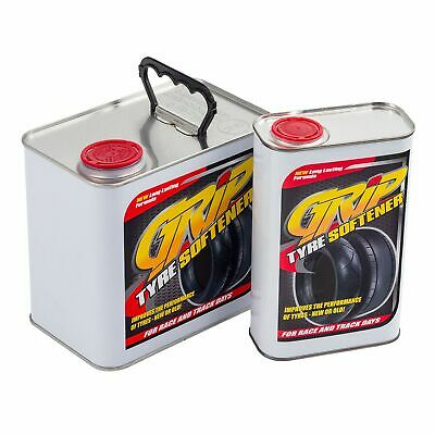 Grip Tyre Softener Help Increase Level Of Traction On Old Worn Tyres - 2.5 Litre