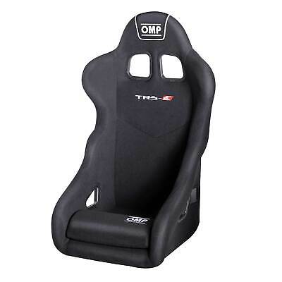 OMP TRS-E Black Velour Fabric Steel Frame Race Rally Bucket Seat