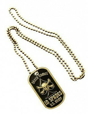 NEW Dog Tag U.S. Army Death Comes in Spades with key chain. 2772.