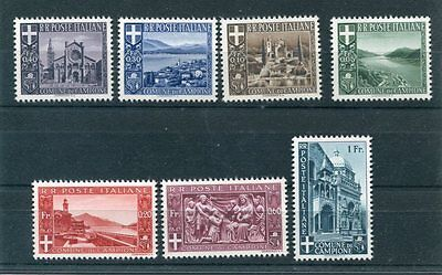 CAMPIONE ITALY 1944 MNH set 7 Stamps cat EURO 60