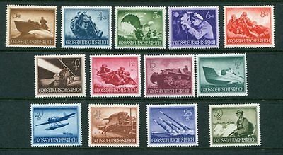GERMANY 1944 WELFARE WAR HEROES MNH Set 13 Stamps