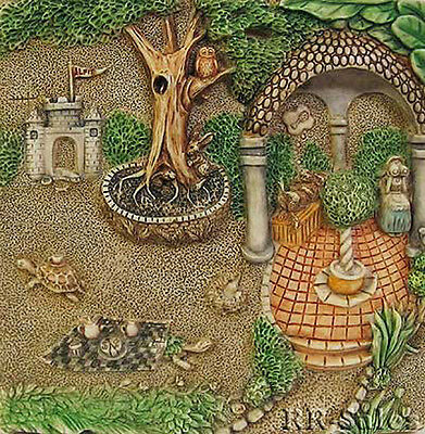 Byrons Secret Garden Picturesque Tiles Tea Party Gourmet Gazebo Harmony Kingdom