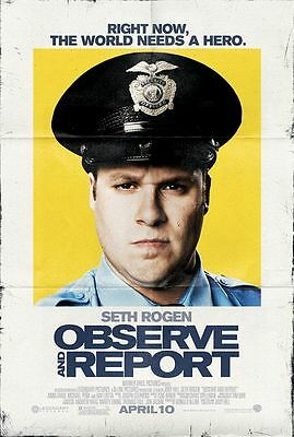 Observe and Report - original DS movie poster D/S 27x40 Seth Rogen